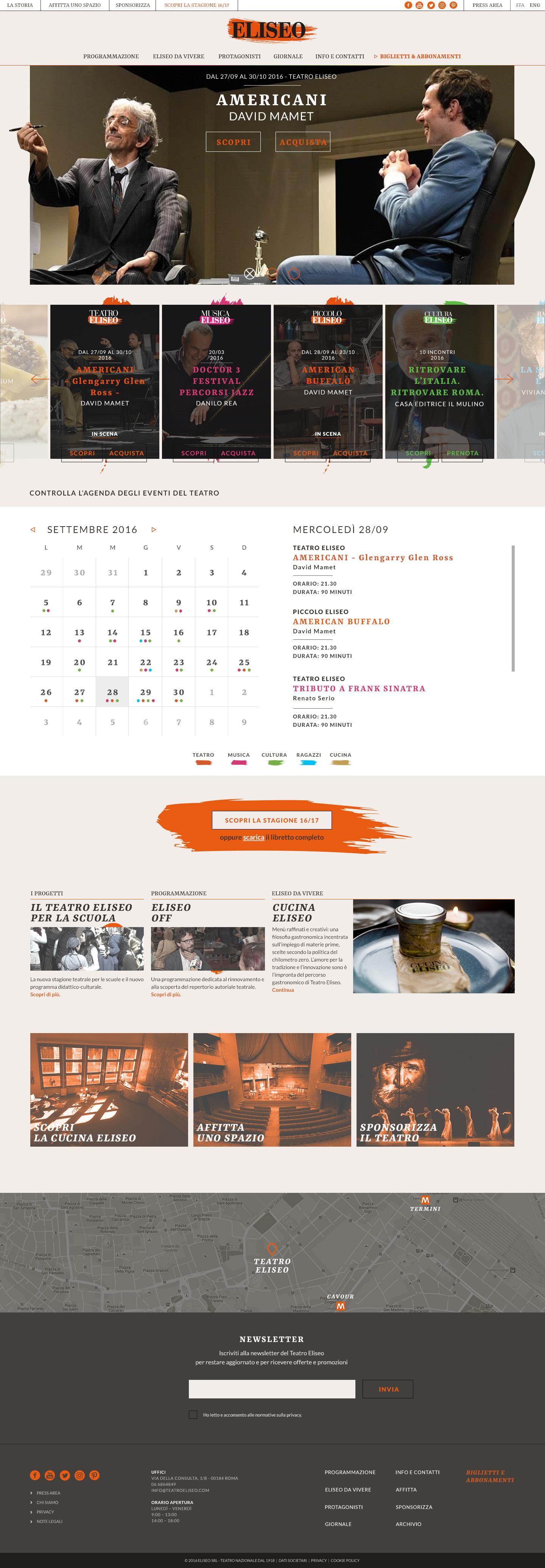 Teatro Eliseo Homepage
