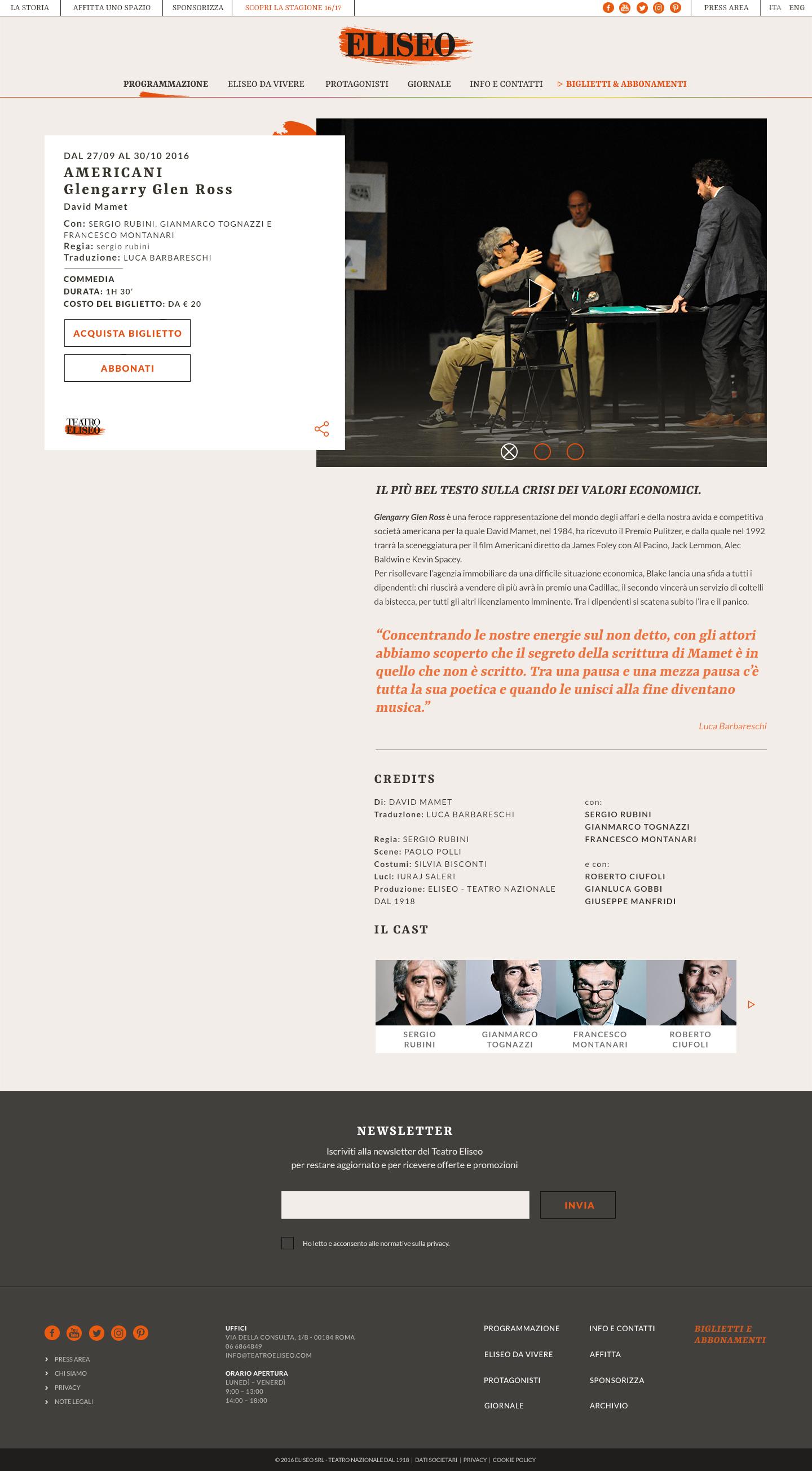 Teatro Eliseo Play Details